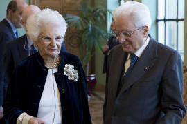 Liliana Segre e Sergio Mattarella
