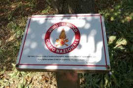 la targa per i Vigili del fuoco