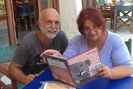 Daphne Vloumidi con il marito Iannis