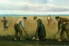 Vincent Van Gogh, Contadini che piantano patate, 1884.