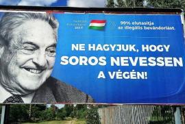 """Budapest, un manifesto contro Soros ideato dal governo Orban: """"Non lasceremo Soros ridere per ultimo"""""""
