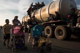 La carovana dei migranti è formata in gran parte da donne con bambini