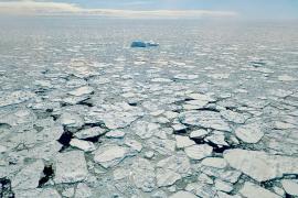 Mare ghiacciato lungo la costa della Groenlandia.
