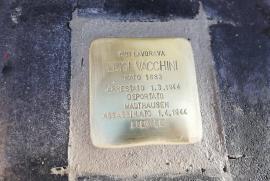 pietra d'inciampo per Luigi Vacchini, posata in piazza Beccaria, 19