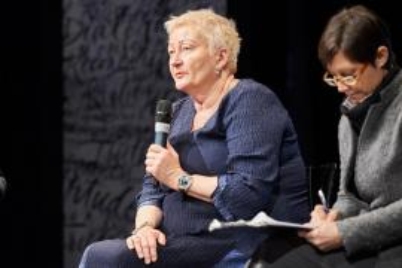 Svetlana Broz con la traduttrice Valentina Gianoli