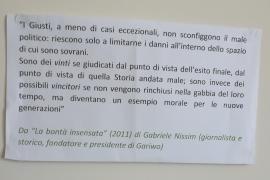 """da """"La bontà insensata"""" di Gabriele Nissim"""