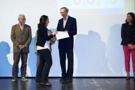 """Carlo Sala durante la premiazione del bando di concorso """"Adotta un Giusto 2018/19"""""""