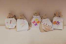 I sacchetti di semi donati dai bambini della scuola