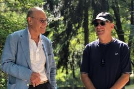 Gabriele Nissim e Nadav Tamir, durante la visita al Giardino dei Giusti