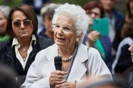 La Senatrice Liliana Segre al Giardino dei Giusti di Milano