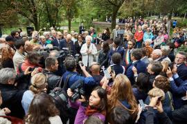 Liliana Segre al Giardino dei Giusti di Milano