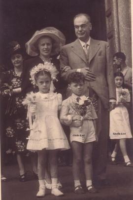 Con Giulio e Gisella Levi