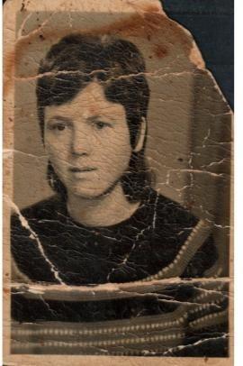 Rudina Dema da giovane, nel 1975, a 30 anni