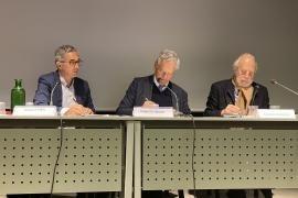 Jacques Fredj, Roberto Jarach e Giorgio Sacerdoti firmano la convenzione