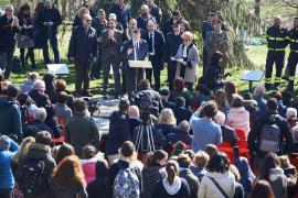 Serafino Cagnetti durante la cerimonia al Monte Stella per la Giornata dei Giusti 2018