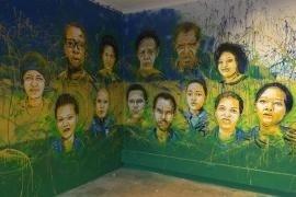 Un murale dedicato ai Giusti per il genocidio ruandese