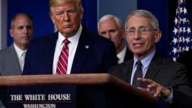 Il presidente Donald Trump e il dottor Anthony Fauci