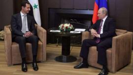 Il Presidente siriano Bashar al-Assad e il Presidente della Russia, Vladimir Putin, a Sochi nel 2017