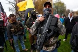 Manifestanti in Michigan