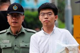 Joshua Wong durante un fermo della polizia