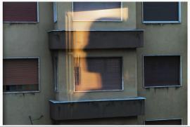 """Toni Thorimbert, """"Finestra"""". «Costretti a guardarci allo specchio mentre guardiamo dalla finestra». Milano, 9 maggio 2020"""
