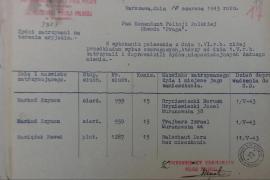 """Un documento che prova come gli agenti di polizia polacchi abbiano arrestato e consegnato gli ebrei alla Gestapo. Dal libro """"Na Posterunku"""" di Jan Grabowski."""
