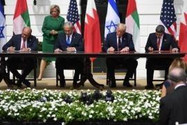 La firma alla Casa Bianca degli Accordi di Abramo