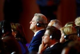 Al Gore alla Conferenza delle Nazioni Unite sui cambiamenti climatici nel 2015