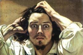 Uomo disperato di Gustave Courbet
