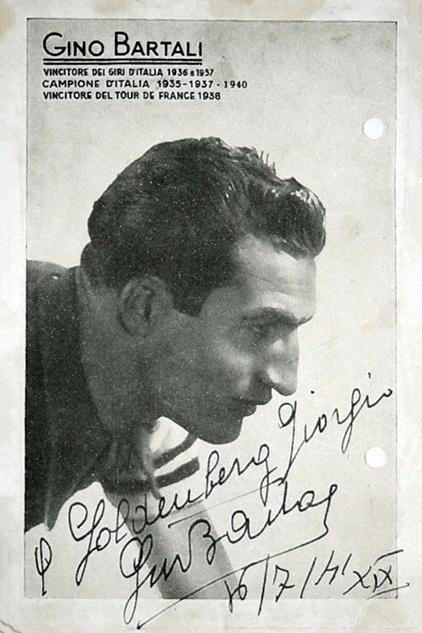 La foto di Gino Bartali regalata ai Goldenberg