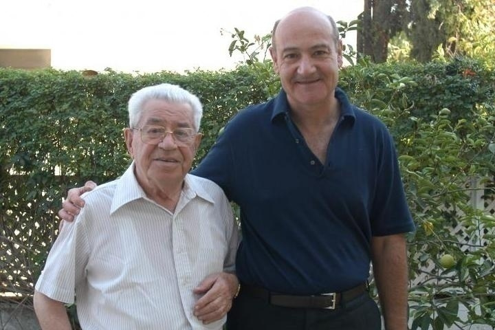 Moshe Bejski insieme a Gabriele Nissim