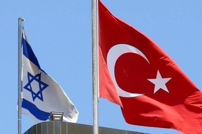 La bandiere di Israele e Turchia