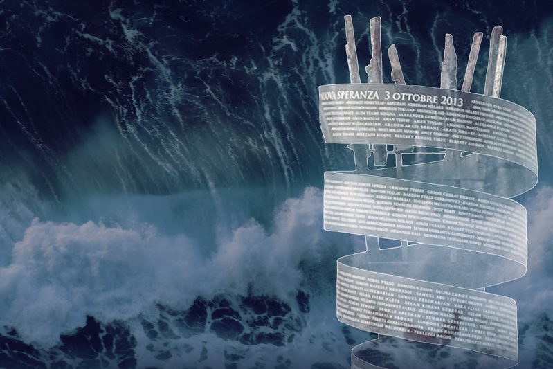 """Il memoriale """"Nuova speranza"""" a Lampedusa"""