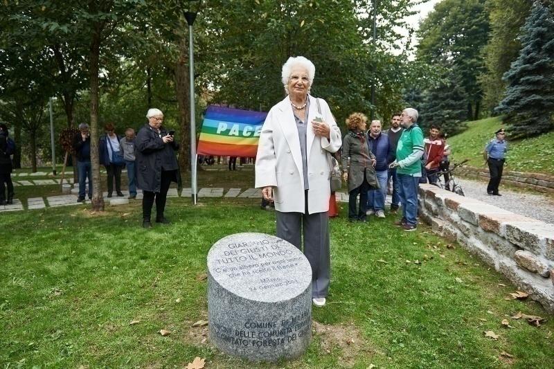 La Senatrice Liliana Segre al Giardino dei Giusti di tutto il mondo di Milano