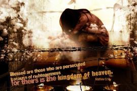 Manifesto dedicato ai cristiani perseguitati (fonte Flickr: utente lowsl)