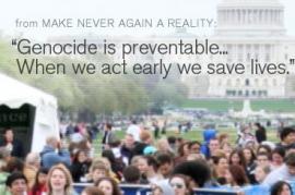 I genocidi si possono prevenire... slogan di una manifestazione (da Flickr: utente WITNESS.org)