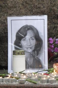 Ricordo di N. Estemirova a S. Pietroburgo (Foto di Susanne Christensen)