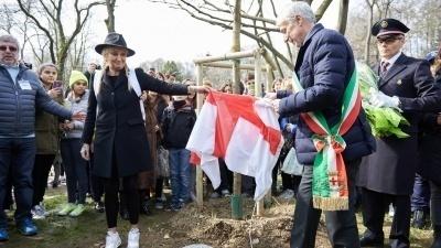 Cerimonia al Giardino dei Giusti di Milano 2016