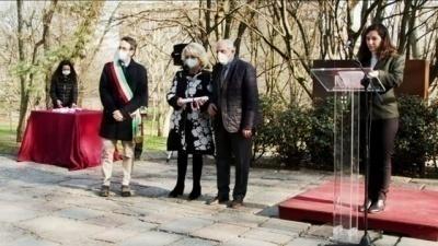 Consegna pergamene per i nuovi Giusti onorati al Giardino Virtuale