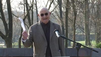 Il presidente di Gariwo Gabriele Nissim al Giardino di Milano