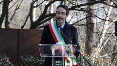 Il presidente del Consiglio comunale di Milano Lamberto Bertolé al Giardino di Milano