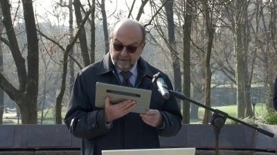 Il vicepresidente UCEI Giorgio Mortara al Giardino del Monte Stella di Milano
