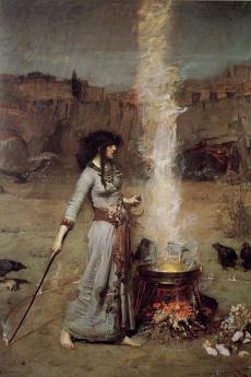 Il cerchio magico di John William Waterhouse