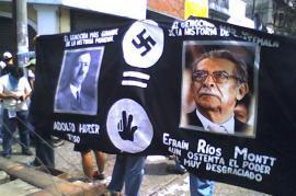 Corteo contro Rios Montt (foto di Firetreo)