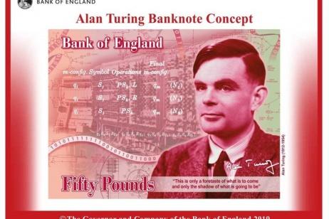 Alan Turing sulle banconote inglesi