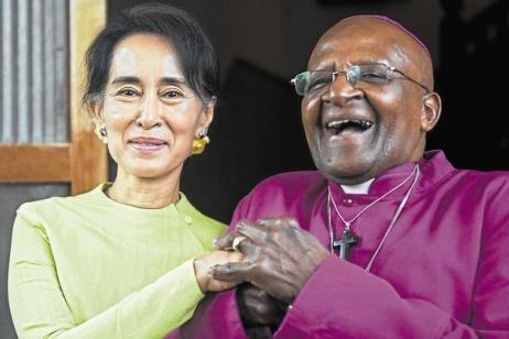 Desmond Tutu scrive ad Aung San Suu Ky