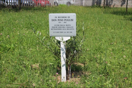 Don Pino Puglisi Giusto al Giardino di Vignate