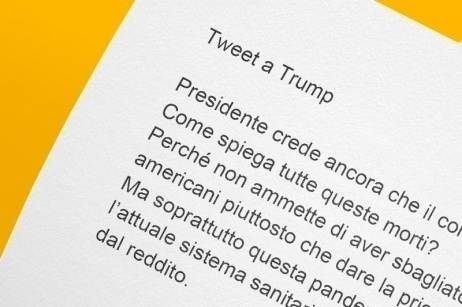 Tweet all'ex Presidente USA Donald Trump