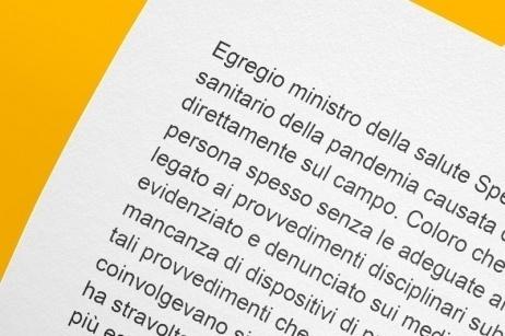 Lettera al Ministro Roberto Speranza