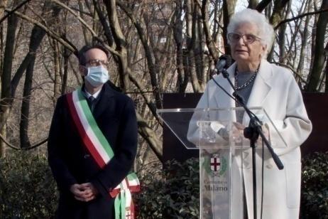 Liliana Segre al Giardino di Milano